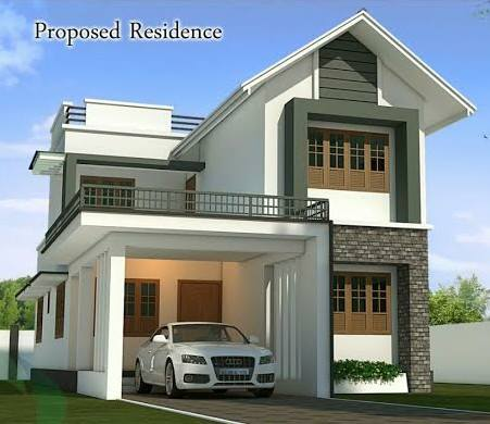4 Bhk Double Floor Modern Home Design at 1750 Sq Ft New House Design