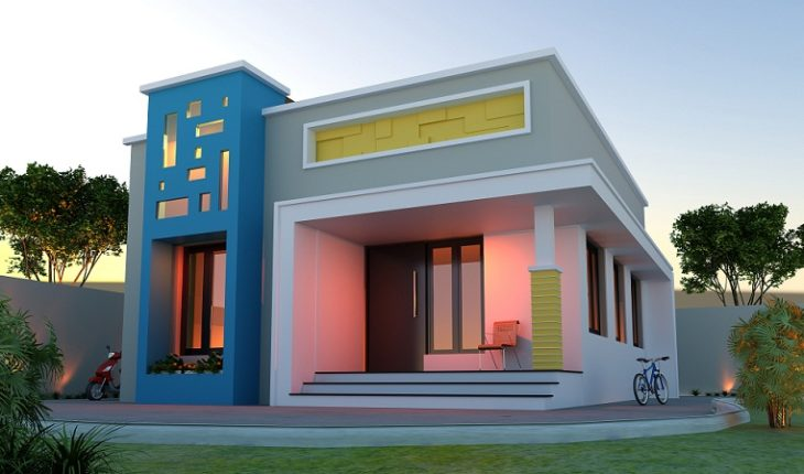 640 Sq Ft Low Cost Single Storied Modern Home Design - Hello Homes