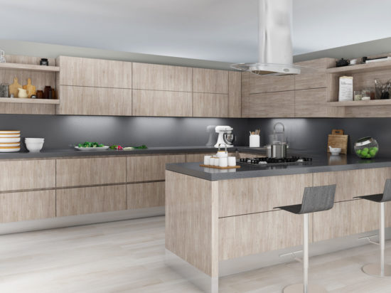 Modern Kitchen Cabinets - Free Shipping, 3D Renderings