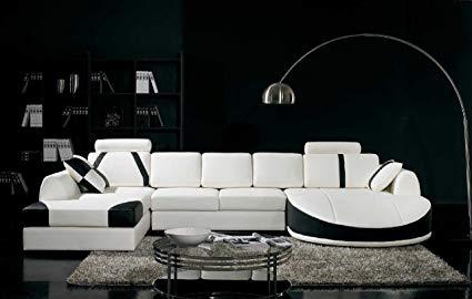 Amazon.com: Vig Furniture T57B Ultra Modern Sectional Sofa: Kitchen