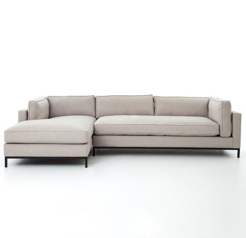 Grammercy Linen Upholstered Modern 2 Piece Sectional Sofa | Zin Home
