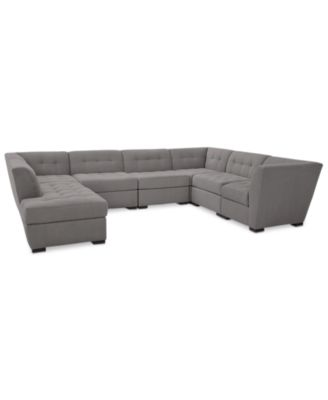 Furniture Roxanne II Performance Fabric 7-Pc. Modular Sofa with
