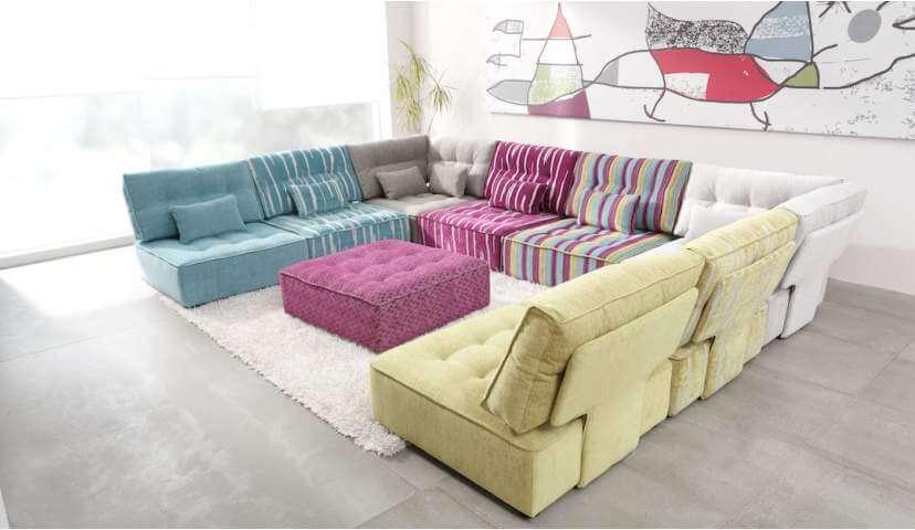 Alice U-Shaped Corner Sofa with Footstool | Darlings of Chelsea