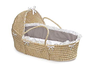 Amazon.com : Hooded Baby Moses Basket with Liner, Sheet, and Pad : Baby