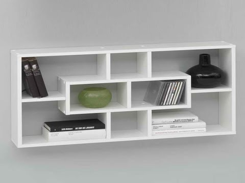 Wall Mounted Bookshelves - Wall Mounted Shelves At Home Depot - YouTube
