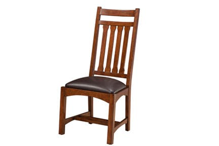 Intercon Dining Room Arm Chair Narrow Slat Oak Park 549425
