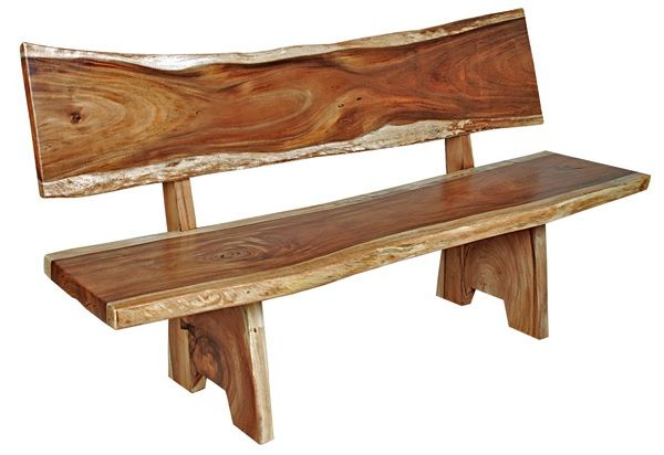 Natural Wood Furniture - Slab Bench - Item # B00605 | Projects to