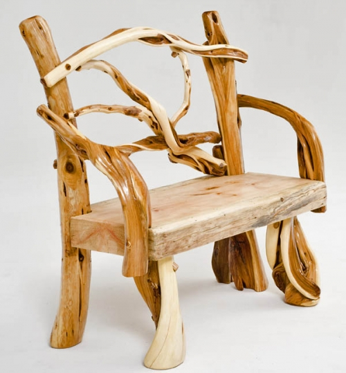 Rustic Log Bench, Cabin Bench, Lodge Furniture, Exotic Wood