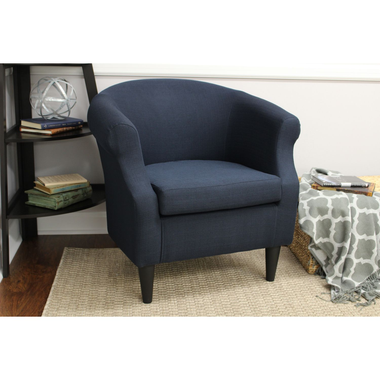 Nikole Navy Club Chair | Pier 1