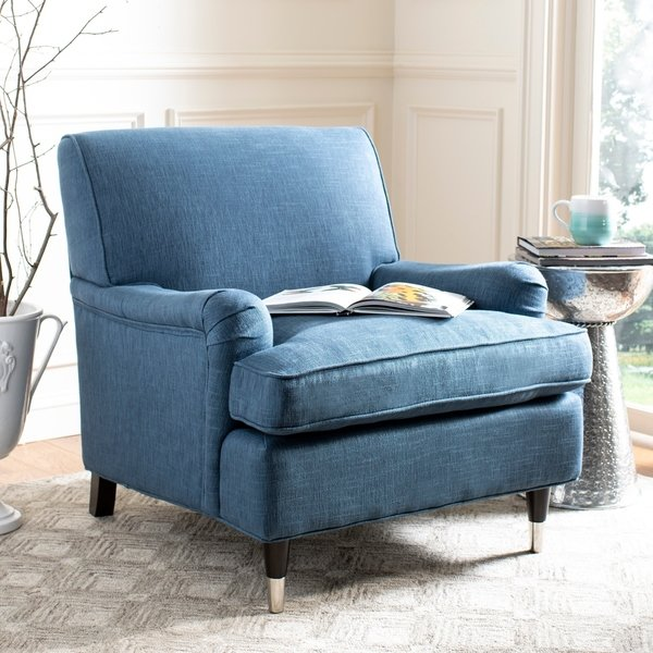 Shop Safavieh Chloe Navy Club Chair - On Sale - Free Shipping Today