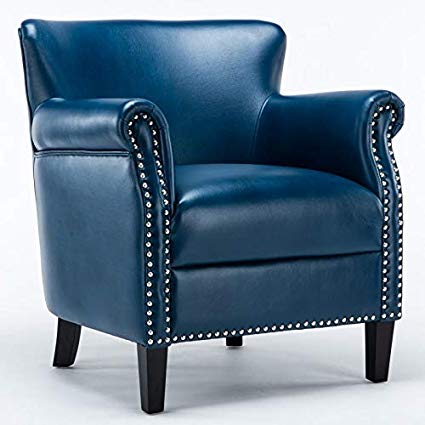 Amazon.com: Comfort Pointe Holly Navy Blue Club Chair: Kitchen & Dining