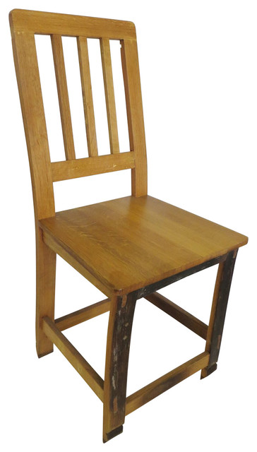 Stave Oak Wood Chair, 16
