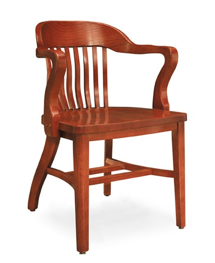 Community Boston Solid Oak Chair W/ Tall Arms - 981a | Wooden Chairs