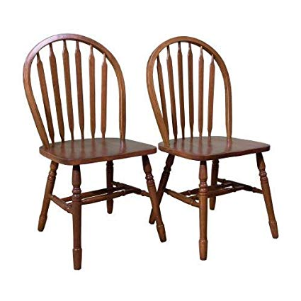Amazon.com - TMS Arrowback Chair (Set of 2), Oak - Chairs
