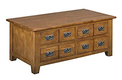 Amazon.com: Mission Quarter Sawn Oak Coffee Table with Drawers on