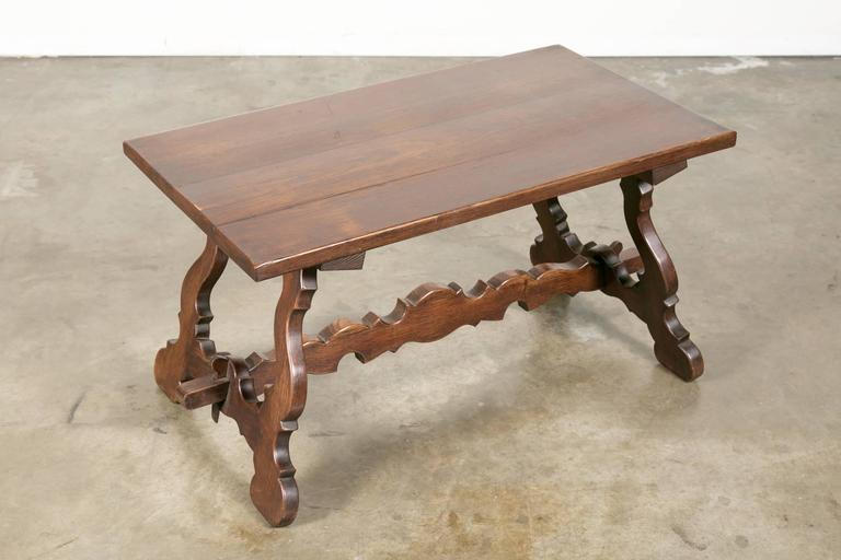 World-Class Antique Spanish Colonial Style Oak Coffee Table | DECASO