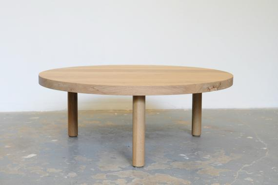 White Oak Coffee Table FREE SHIPPING Round Dylan Design Co.   Etsy