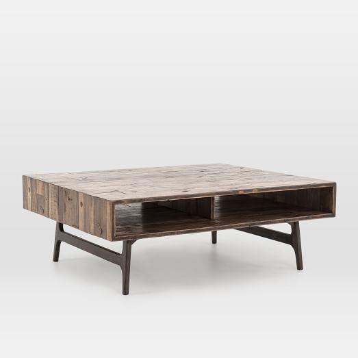 Modern Reclaimed Oak Coffee Table   west elm