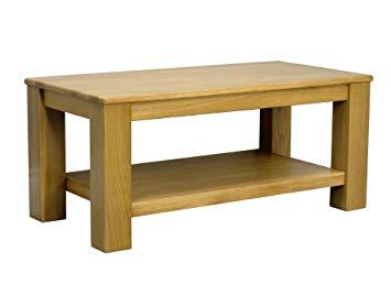 Oakland Solid Chunky Oak Coffee Table With Shelf: Amazon.co.uk