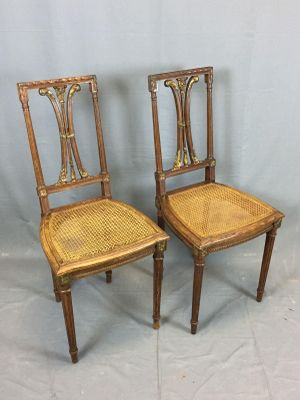 Vintage Oak Dining Chairs, Set of 2 for sale at Pamono