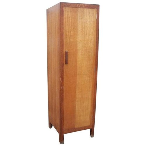 Slim Oak Wardrobe from Heal's, 1930s for sale at Pamono