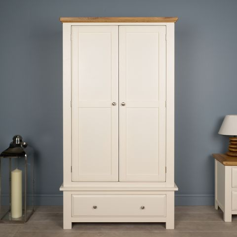 Lyon White Painted Oak Wardrobe | Trade Furniture Company™