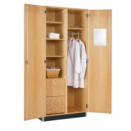Diversified Woodcrafts Oak Wardrobe Cabinet - 360-3622k