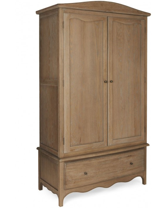 Paris Limed Oak Wardrobe with Drawer