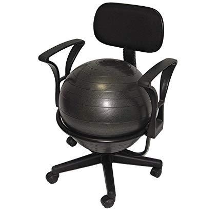 Amazon.com: Aeromats Deluxe Fitness Ball Chair in Black: Everything Else