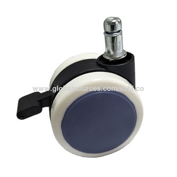 Nylon caster wheels 2.5 inches rubber office chair wheels with brake