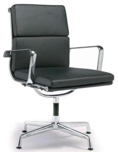 Director Soft Pad Office Chair With No Wheels - Contemporary