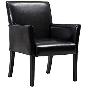 Amazon.com : Giantex Leather Reception Guest Chairs Set Office