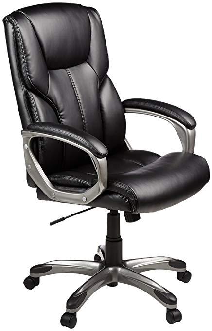 Amazon.com: AmazonBasics High-Back Executive Swivel Chair - Black