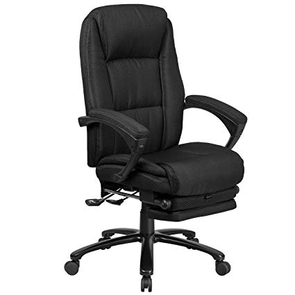 Amazon.com: Flash Furniture High Back Black Fabric Executive