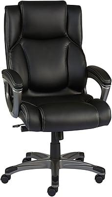Staples Washburn Bonded Leather Office Chair, Black   Staples