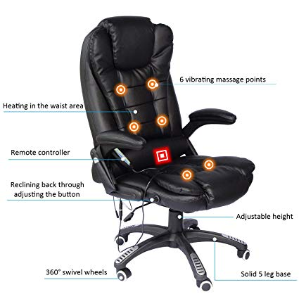 Amazon.com: Home Office Computer Desk Massage Chair Executive