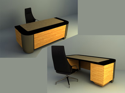 office furniture 3d model download collection