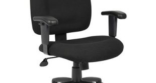 Fabric Task Chair With Adjustable Arms Black - Boss Office Products