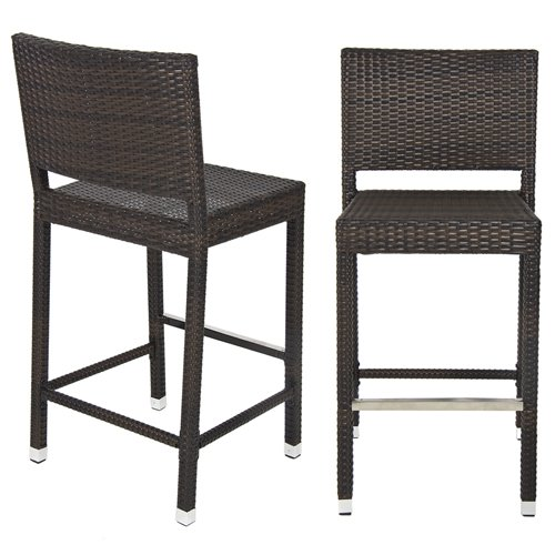 Amazon.com: Best Choice Products Outdoor Wicker Barstool All Weather
