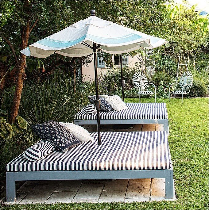 Create your own outdoor bed for laying out or snoozing. Great ideas