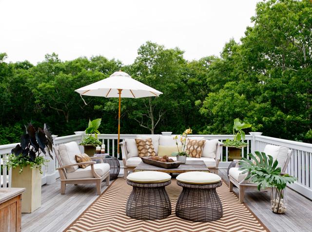 My Houzz: Iris Dankner - Beach Style - Deck - New York - by Rikki Snyder