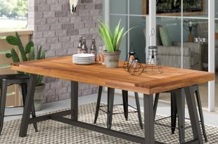 17 Stories Polanco Outdoor Dining Table & Reviews | Wayfair