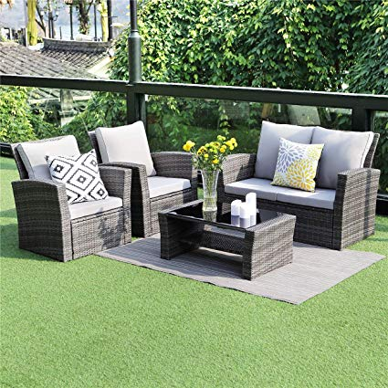 Amazon.com: Wisteria Lane 5 Piece Outdoor Patio Furniture Sets