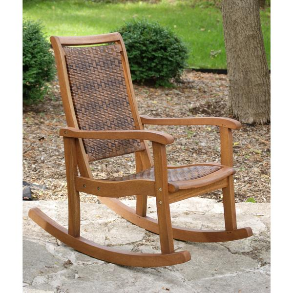 Outdoor Interiors Eucalyptus Rocking Chair | Woven Rocking Chair