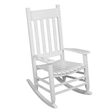 Amazon.com : Outdoor Rocking Chair White The Solid Hardwood Chairs