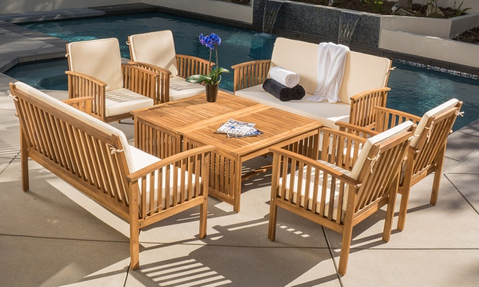 Up To 46% Off on 8-Piece Outdoor Seating Set | Groupon Goods