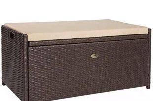 Amazon.com : Barton Outdoor Storage Bench Rattan Style Deck Box
