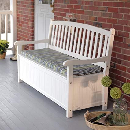 Amazon.com : Pleasant Bay 4 ft. Curved-Back Outdoor Acacia Wood