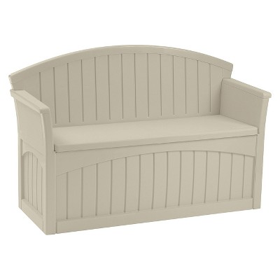 Patio Storage Bench 50 Gallon - Taupe - Suncast : Target