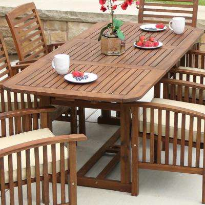 Rectangle - Wood - Patio Tables - Patio Furniture - The Home Depot